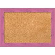 "Amanti Art Small Petticoat Pink Rustic 20""W x 14""H Framed Cork Board (DSW3907453)"