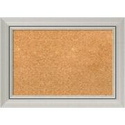 "Amanti Art Small Romano Silver 22""W x 16""H Silver Framed Cork Board (DSW3907460)"