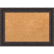 "Amanti Art Small Rustic Pine 21""W x 15""H Framed Cork Board (DSW3907464)"