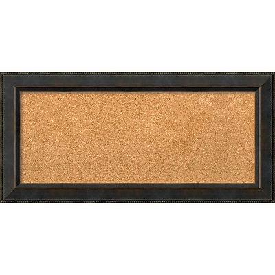 "Amanti Art Panel Signore Bronze 35""W x 17""H Framed Cork Board (DSW3907469)"
