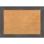"Amanti Art Small Woodridge Rustic Grey 21""W x 15""H Framed Cork Board (DSW3907812)"