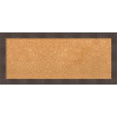 "Amanti Art Panel Whiskey Brown Rustic 32""W x 14""H Framed Cork Board (DSW3907815)"