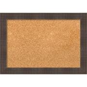"Amanti Art Small Whiskey Brown Rustic 20""W x 14""H Framed Cork Board (DSW3907817)"