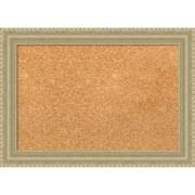 """Amanti Art Small Champagne Teardrop 21""""W x 15""""H Framed Cork Board (DSW3908012)"""