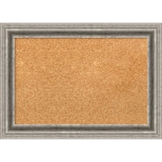 "Amanti Art Small Bel Volto Silver 21""W x 15""H Framed Cork Board (DSW3908028)"