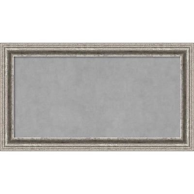 Amanti Art Framed Magnetic Board Medium Bel Volto Silver 27