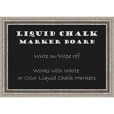 Amanti Art Framed Liquid Chalk Marker Board Medium Bel Volto Silver 27