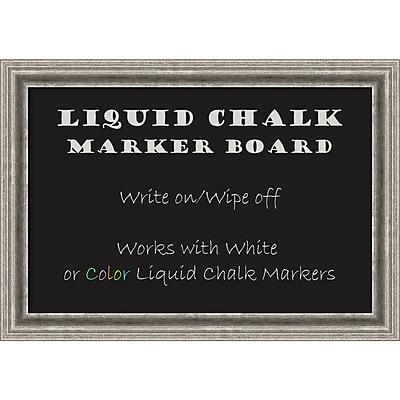 Amanti Art Framed Liquid Chalk Marker Board Medium Bel Volto Silver 27