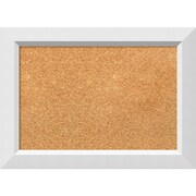 "Amanti Art Small Blanco White 21""W x 15""H Framed Cork Board (DSW3908046)"