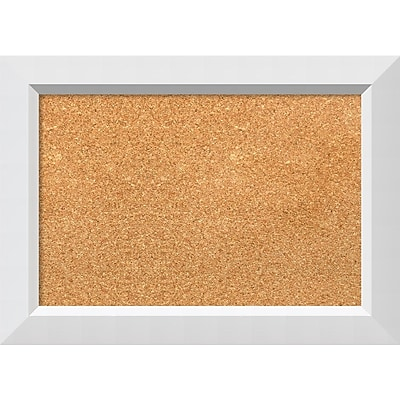 "Amanti Art Small Blanco White 21""W x 15""H Framed Cork Board (DSW3908046)"