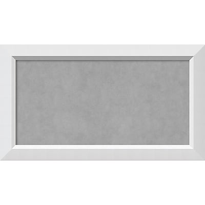Amanti Art Framed Magnetic Board Medium Blanco White 27