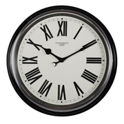 "Studio Designs Home Traditional Metal Roman Numeral Wall Clock 19"" Black (73004)"