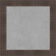 """Amanti Art Framed Magnetic Board Small Square, Whiskey Brown Rustic 14""""W x 14""""H Frame (DSW3908063)"""