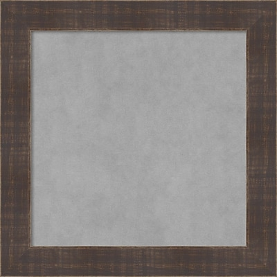 Amanti Art Framed Magnetic Board Small Square, Whiskey Brown Rustic 14