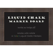 "Amanti Art Framed Liquid Chalk Marker Board Small Whiskey Brown Rustic 20""W x 14""H Frame Brown (DSW3908066)"