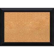 "Amanti Art Medium Nero Black 28""W x 20""H Black Framed Cork Board (DSW3908081)"