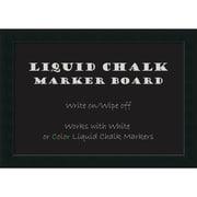 "Amanti Art Framed Liquid Chalk Marker Board Extra LargeCorvino Black 41""W x 29""H Frame Black (DSW3908086)"