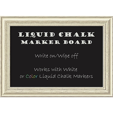 Amanti Art Framed Liquid Chalk Marker Board Medium Country White Wash 29