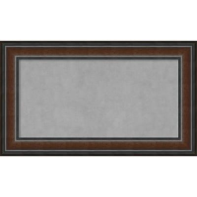 Amanti Art Framed Magnetic Board Medium Cyprus Walnut 29
