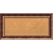 "Amanti Art Panel Manhattan Bronze 36""W x 18""H Framed Cork Board (DSW3908289)"
