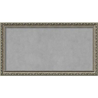 Amanti Art Framed Magnetic Board Medium Parisian Silver 27