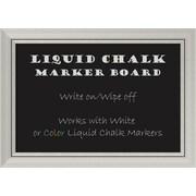 """Amanti Art Framed Liquid Chalk Marker Board Medium Romano Silver 28""""W x 20""""H Frame Silver (DSW3908307)"""