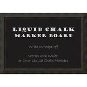 "Amanti Art Framed Liquid Chalk Marker Board Extra Large Signore Bronze 41""W x 29""H Frame Bronze (DSW3908324)"