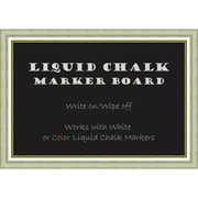 "Amanti Art Framed Liquid Chalk Marker Board Extra LargeVegas Burnished Silver 41""W x 29""H Frame Silver (DSW3908328)"
