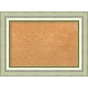"Amanti Art Small Vegas Burnished Silver 23""W x 17""H Framed Cork Board (DSW3908333)"