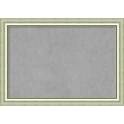 Amanti Art Framed Magnetic Board Extra Large Vegas Burnished Silver 41