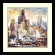 Amanti Art Framed Art Print Downtown Drive 2  by Bruce Marion 33 x 33 Frame Satin Black  (DSW3908980)
