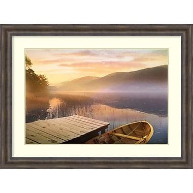 Amanti Art Framed Art Print Morning on the Lake by Steve Hunkiker 49
