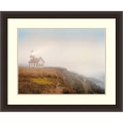 "Amanti Art Framed Art Print Point Cabrillo Lighthouse by Chris Honeysett 34""W x 28""H, Frame Dark Espresso (DSW3909002)"