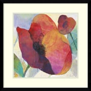 Amanti Art Framed Art Print Poppy I by Doug Kennedy 25 inch W x 25 inch H, Frame Satin... by