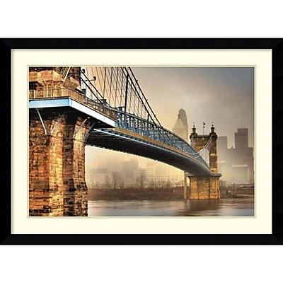 Amanti Art Framed Art Print Foggy Roebling by Jason Bohrer 45 x 33 Frame Satin Black (DSW3909038)