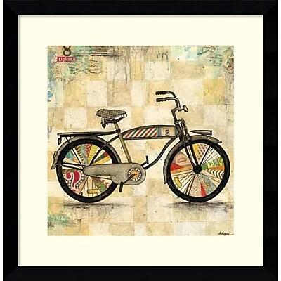 Amanti Art Framed Art Print Ride 1 (Bike) by Wagner Jennifer 17 x 17 Frame Satin Black (DSW3909041)