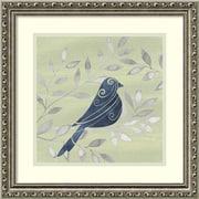 "Amanti Art Framed Art Print Serene Silhouette IV (Bird) by Grace Popp 19""W x 19""H Frame Silver (DSW3909174)"