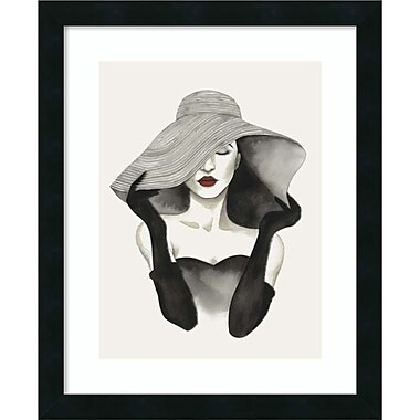 Amanti Art Framed Art Print In Vogue I by Grace Popp 18 x 22 Frame Satin Black (DSW3909179)