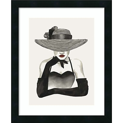 Amanti Art Framed Art Print In Vogue II by Grace Popp 18 x 22 Frame Satin Black (DSW3909181)