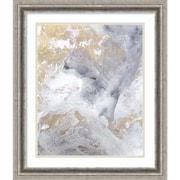"Amanti Art Framed Art Print Gold Fusion II by Julia Contacessi 23""W x 27""H Frame Silver (DSW3909205)"