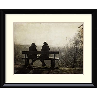 Amanti Art Framed Art Print Conversation by Joe Reynolds 33 x 27 Frame Black (DSW3909253)