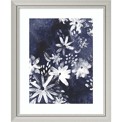 Amanti Art Framed Art Print Indigo Floral Gesture I by June Vess 28