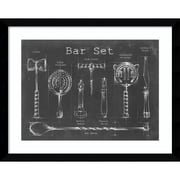 "Amanti Art Framed Art Print Bar Set by Ethan Harper 39""W x 31""H, Frame Satin Black (DSW3909369)"