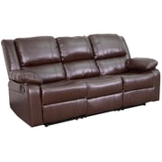 "Flash Furniture 38""H Brown Leather Recliner Sofa (BT70597SOFBN)"