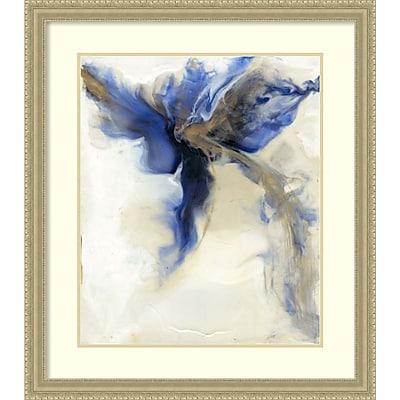 """""Amanti Art Framed Art Print Blue Impressions I (Floral) by Tim O'Toole 25""""""""W x 37""""""""H, Frame Silver (DSW3909379)"""""" 24010733"