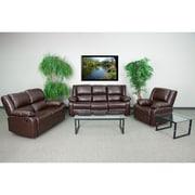 "Flash Furniture 38""H Brown Leather Recliner Set of 3 (BT70597RLSSETBN)"