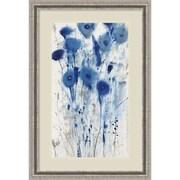 """Amanti Art Framed Art Print Blue Impressions II (Floral) by Tim O'Toole 25""""W x 37""""H, Frame Silver (DSW3909380)"""