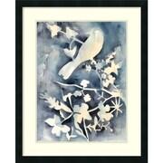 """Amanti Art Framed Art Print Hedgerow II (Bird) by Chariklia Zarris 26""""W x 32""""H,  Satin Black Frame (DSW3909383)"""