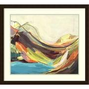 "Amanti Art Framed Art Print Mount Desert Isle by Amanda K. Hawkins 31""W x 28""H Frame Espresso Brown (DSW3909423)"