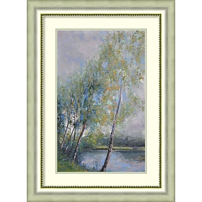 Amanti Art Framed Art Print Poetry on Riverbank by Clement Nivert 25